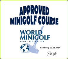 Certificate - minigolf, miniaturgolf
